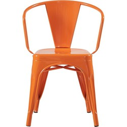 Retro stoel - oranje - set van 4
