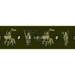ESTAhome behangrand ridders legergroen