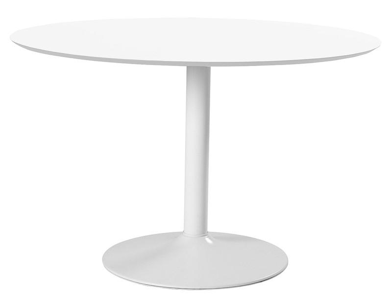 24designs ronde tafel esma Ø110x74 wit tafelblad witte