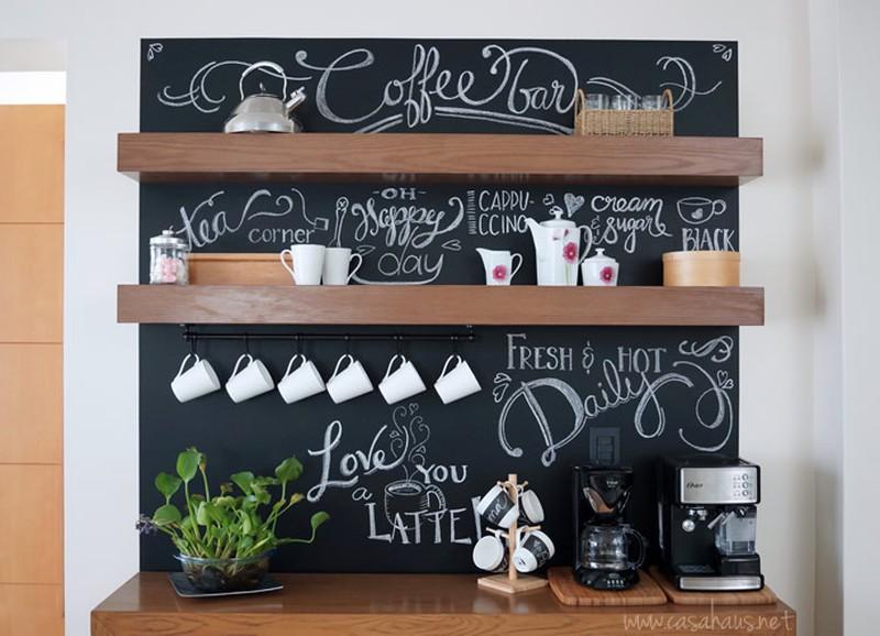 Koffiehoek in de keuken