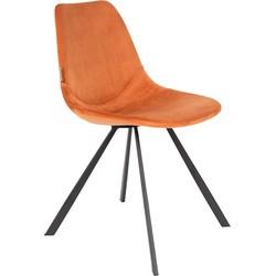 Dutchbone Eetkamerstoel Franky Velvet Orange 83 x 46 x 56