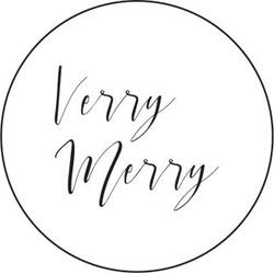 Villa Madelief Verry Merry kerst sticker wit