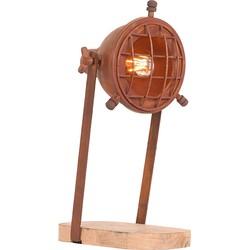 LABEL51 - Tafellamp Grid 15x25x39 cm - Industrieel - Rust