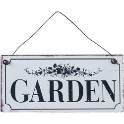 Clayre & Eef Tekstbord garden 15x7 cm