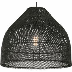 Java kleine hanglampenkap, zwart rotan