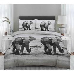 Dekbedovertrek Olifant Maat: 2-persoons (200 x 220 cm + 2 kussenslopen)