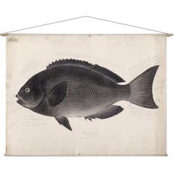Zwarte vis - 180 x 130 cm