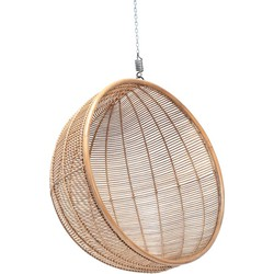 HK-living rotan hangstoel bal, naturel