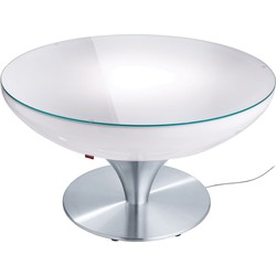 Moree - Ronde Salontafel Lounge - Hoogte 45 Cm Indoor - Wit