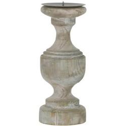 Mica Kandelaar white wash hoogte 25 cm