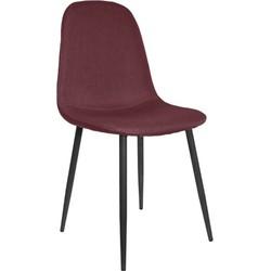 Stockholm stoel - stof bordeaux - set van 4