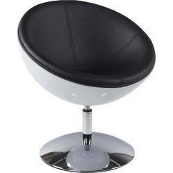 Kokoon Sphere design stoel - wit/zwart