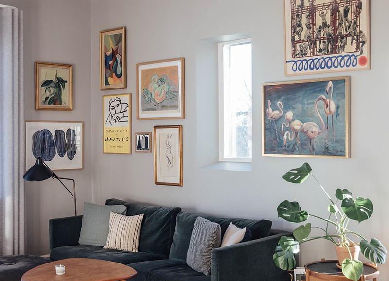 Shop the look: woonkamer met abstracte posters