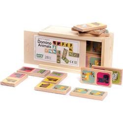 Houten Dominospel Dieren   Animals