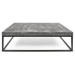TemaHome Salontafel Petra - 120x75x38 - Grijs beton Look Tafelblad - Zwart Onderstel