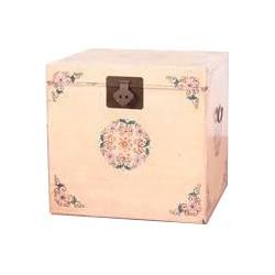 Fine Asianliving Antieke Chinese Kist Handbeschilderd Wit Creme