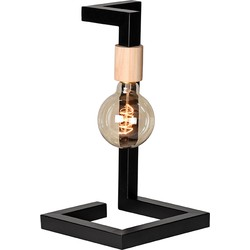 Table lamp Loco by LABEL51 is a characteristic lamp with an eye-catching, simplistic design. The cool sleek lines, combined with the striking wooden detail make this into a designer piece for your table, dresser or every other place you can think of....