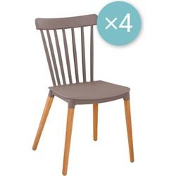 Medaillon stoel - taupe - set van 4