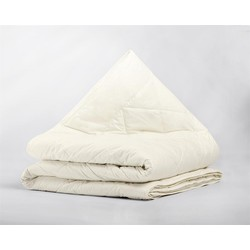 Percale Cotton Wool Touch 4-Seizoenen Dekbed Cream - 260 x 220