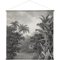 HKliving Poster Linnen Jungle - 154 x 154 cm