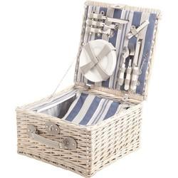 Cosy&Trendy Picknickmand - 4 Personen - Bestek-Borden-Glazen-Flesopener