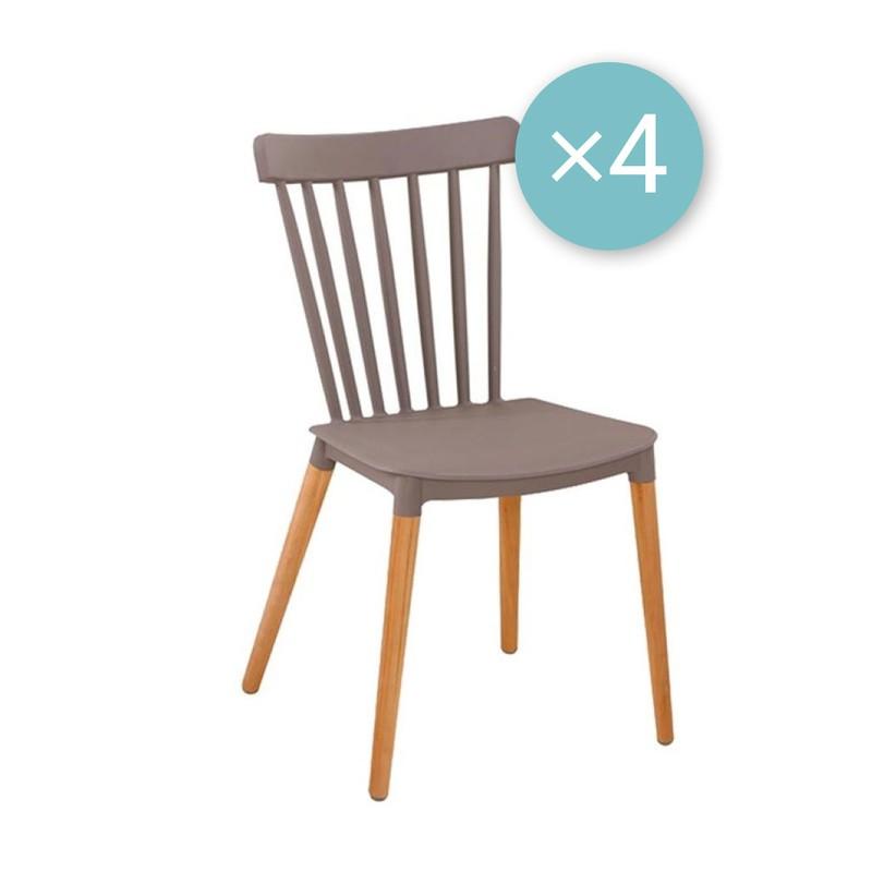 Medaillon stoel - taupe - set van 4 -