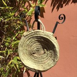 Myroundie - Roundie Bag - Ronde Ibiza Boho Tas 26 - Hand gevlochten Palmblad Tas - Maat M