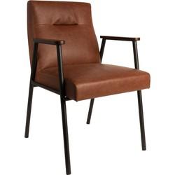 Dutchbone Eetkamerstoel Fez Vintage Brown 86 x 57,5 x 60