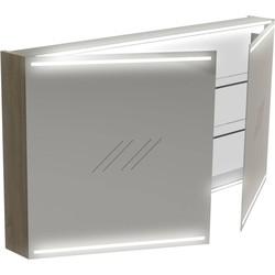 Thebalux Deluxe Spiegelkast 70x130x13,5 cm Eiken Antraciet