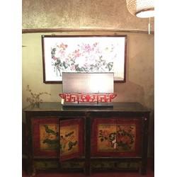 Fine Asianliving Antieke Chinese Dressoir Handbeschilderd Mudans