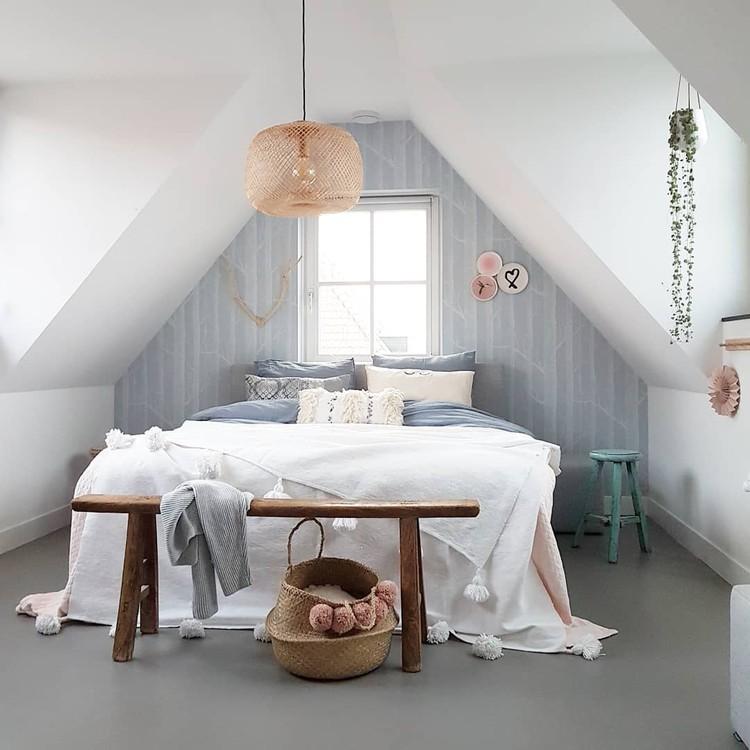 slaapkamer bed rust