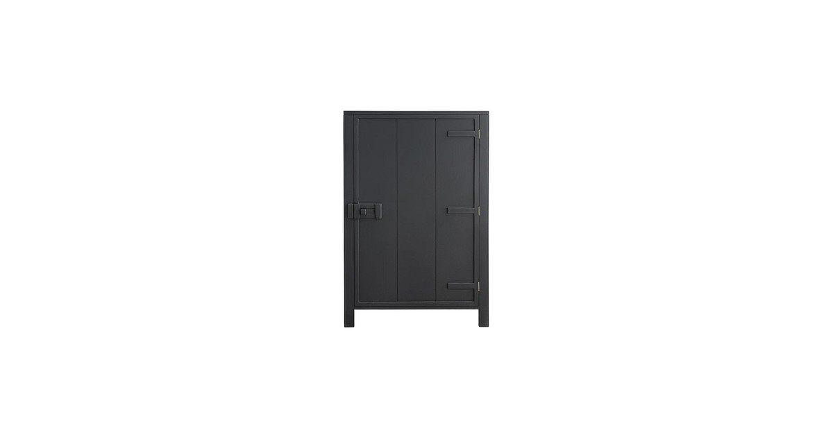 HKliving Cabinet Wandkast Charcoal - 81 x 122 cm (extra@home)