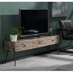 Mosaic - TV-meubel - teakhout - greywash - 3 laden