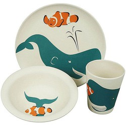 Zuperzozial Hungry Kinderservies Walvis - 3-Delig