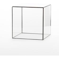 Geometrische Glazen Stolp van Hart & Ruyt - 20cm - Zwart