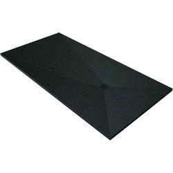 Acquabella Base Douchevloer Slate 100x100x3 cm Negro