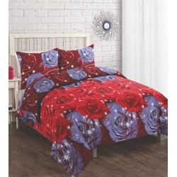 Estrela Dekbedovertrek Red Roses Maat: Lits-jumeaux (240 x 220 cm + 2 kussenslopen)