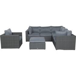 Garden Impressions Formiga loungeset donker grijs 5-delig