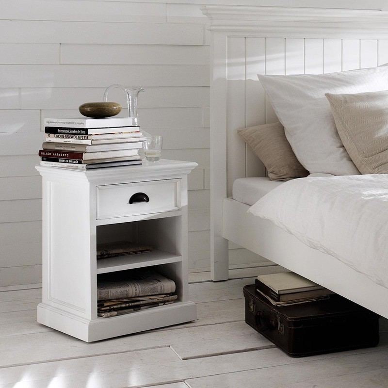 Design Nachtkastjes Wit.Novasolo Halifax Nachtkastje Met Legplanken H60 Cm X B45 Cm X D43