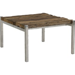 Light&Living Salontafel SOTOS hout nikkel M 40 x 71 x 65