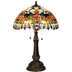 Clayre & Eef Tafellamp met tiffanykap compl. Ø 41x67 cm 2x E27 max 60w