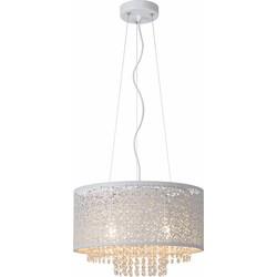 Lucide Verstelbare Hanglamp Raka 4-Lichts Ø41 X H19 Cm - Metaal Wit