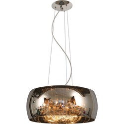 Lucide Verstelbare Hanglamp Pearl - Ø50 Cm X H21 Cm - Glas