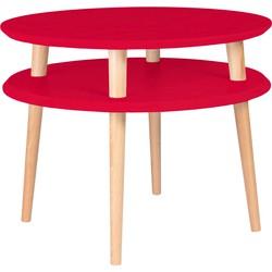 Salontafel UFO diameter 57cm  rood