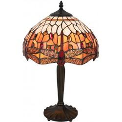 Clayre & Eef Tafellamp Tiffany Ø 31x47 cm / E27 / Max. 1x60 Watt