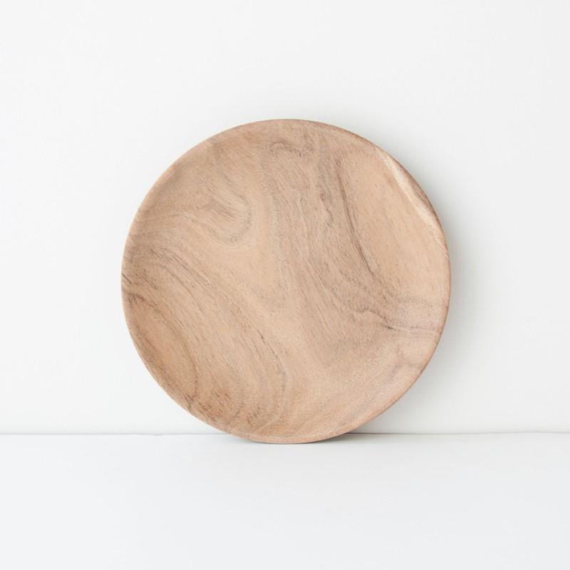 Plate Acacia Wood - Ø18 cm -