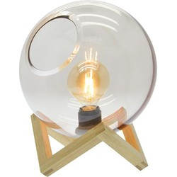 Tafellamp Ayla glazen bol - 18X24CM - Zons