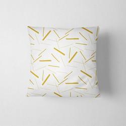 Tuinkussen Sprinkles print geel DesignClaud - 45 x 45 cm kussenhoes + vulling