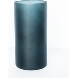 Vase recycled glass matt - Graystone