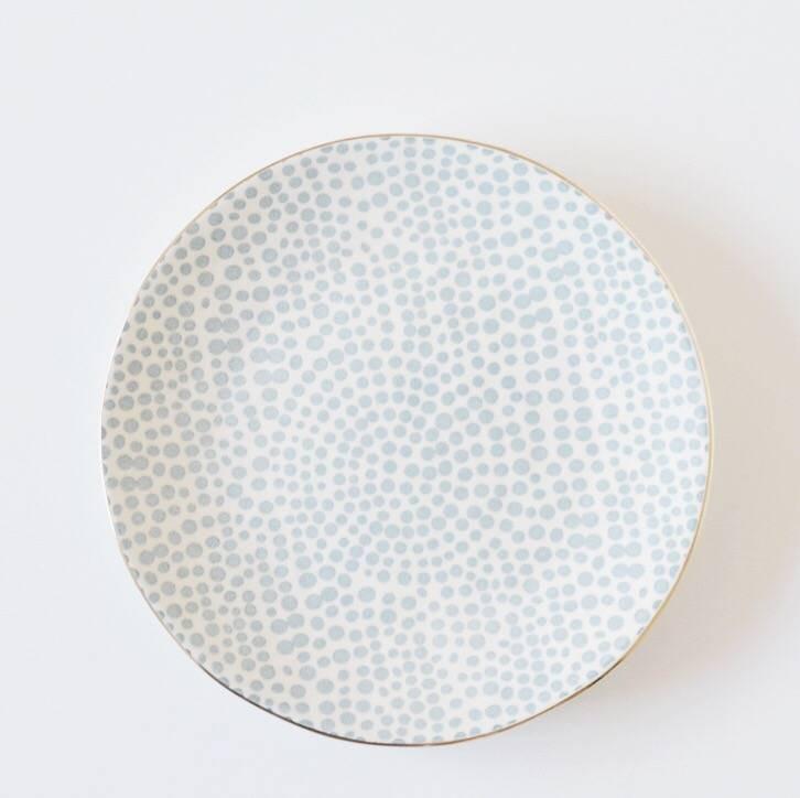 Kitchen Trend Ontbijtbord   Dots Blue   Ø  20 cm -